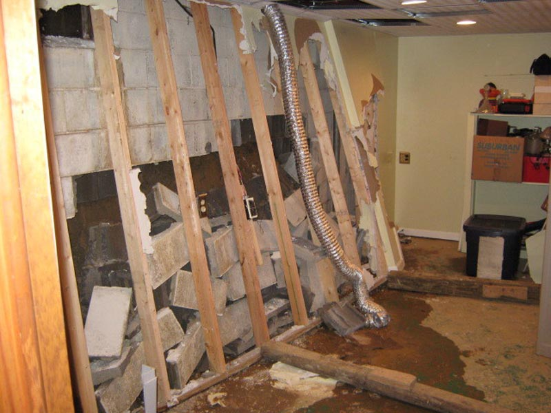 failed basement wall